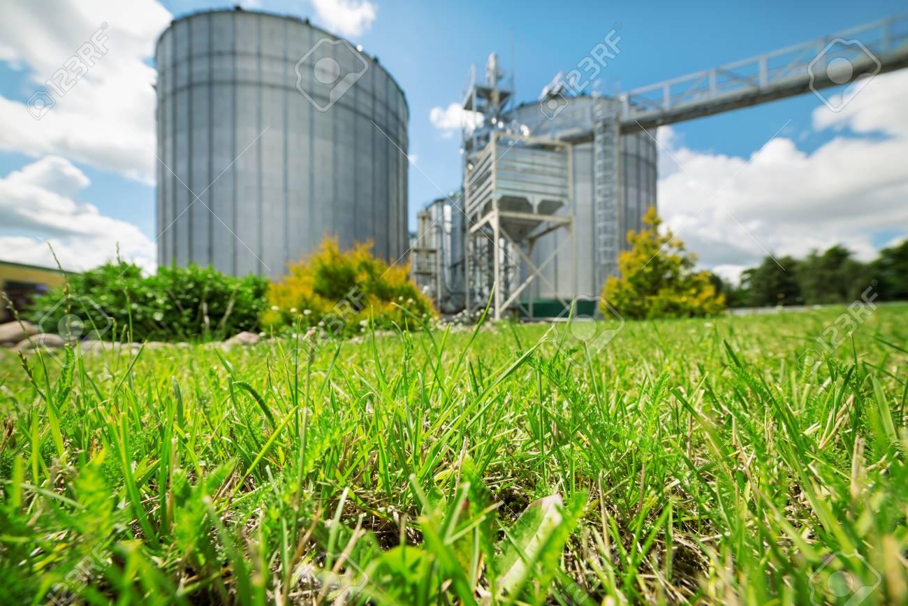 大規模な近代的な穀倉地帯。 の写真素材・画像素材 Image 89020581.