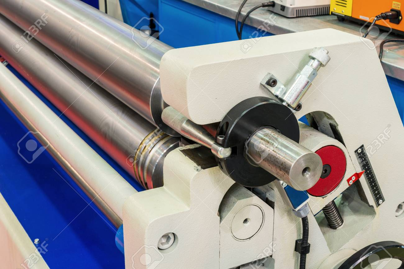 Metal Bending Machine >> Metal Sheet Bending Machine With Cnc Stock Photo Picture And