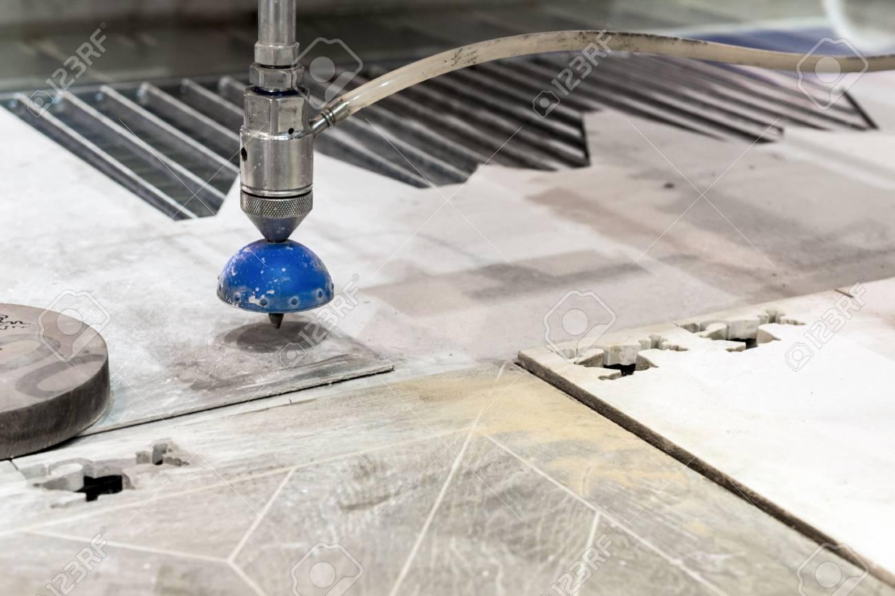 CNC machine for waterjet cutting sheet metal