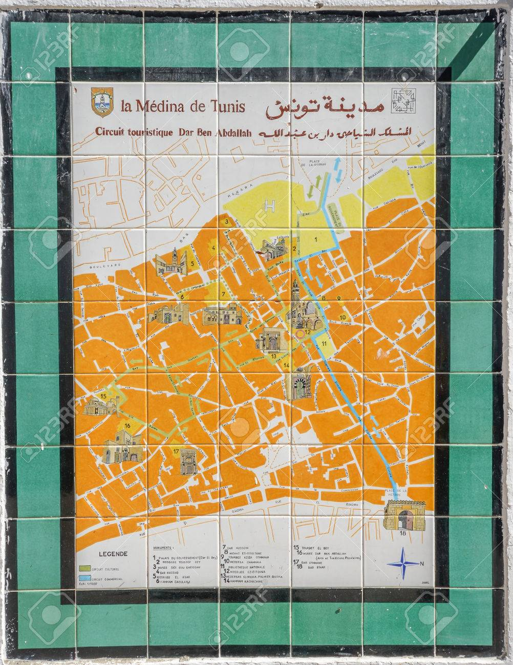 Tunis City Map on