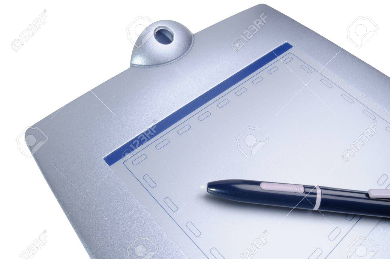 Drawing Tablet Pen, The Computer Device Stock Photo, Picture And ...