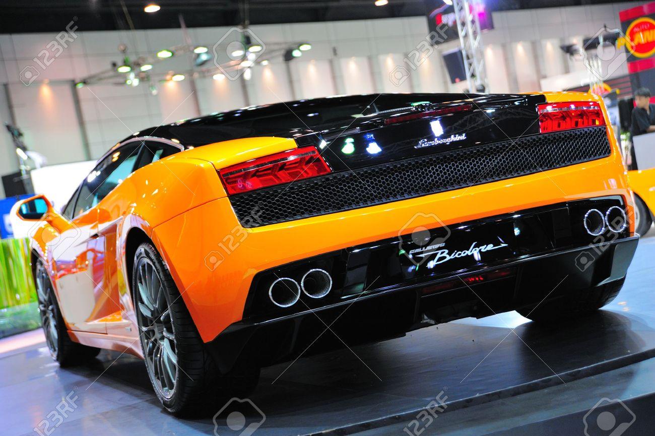 Nonthaburi Thailand May 21 Back Of Lamborghini Gallardo Bicolore