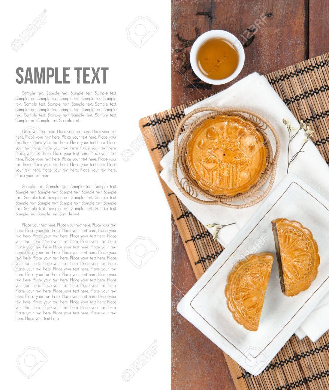 Mooncake, Chinese Mid-autumn festival dessert - 38444539