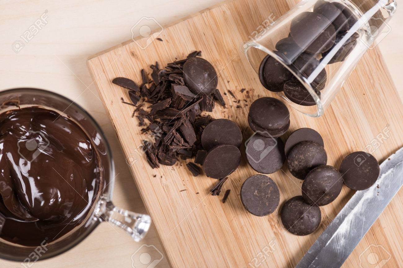 Dark Couverture Chocolate For Cooking Stock Photo, Picture And ...