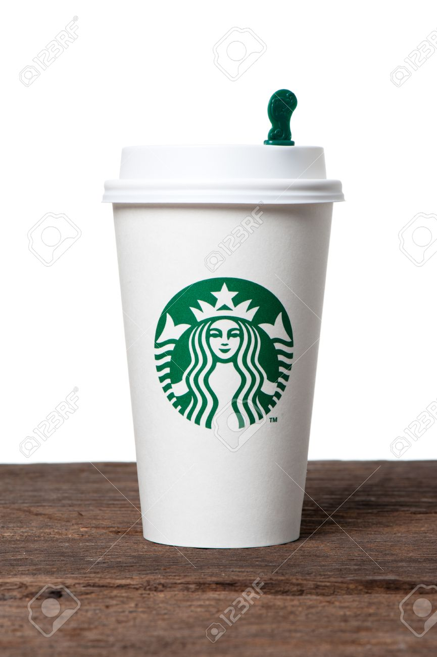 Bangkok thailand february 26 2015 white paper cup with bangkok thailand february 26 2015 white paper cup with starbucks logo biocorpaavc Image collections