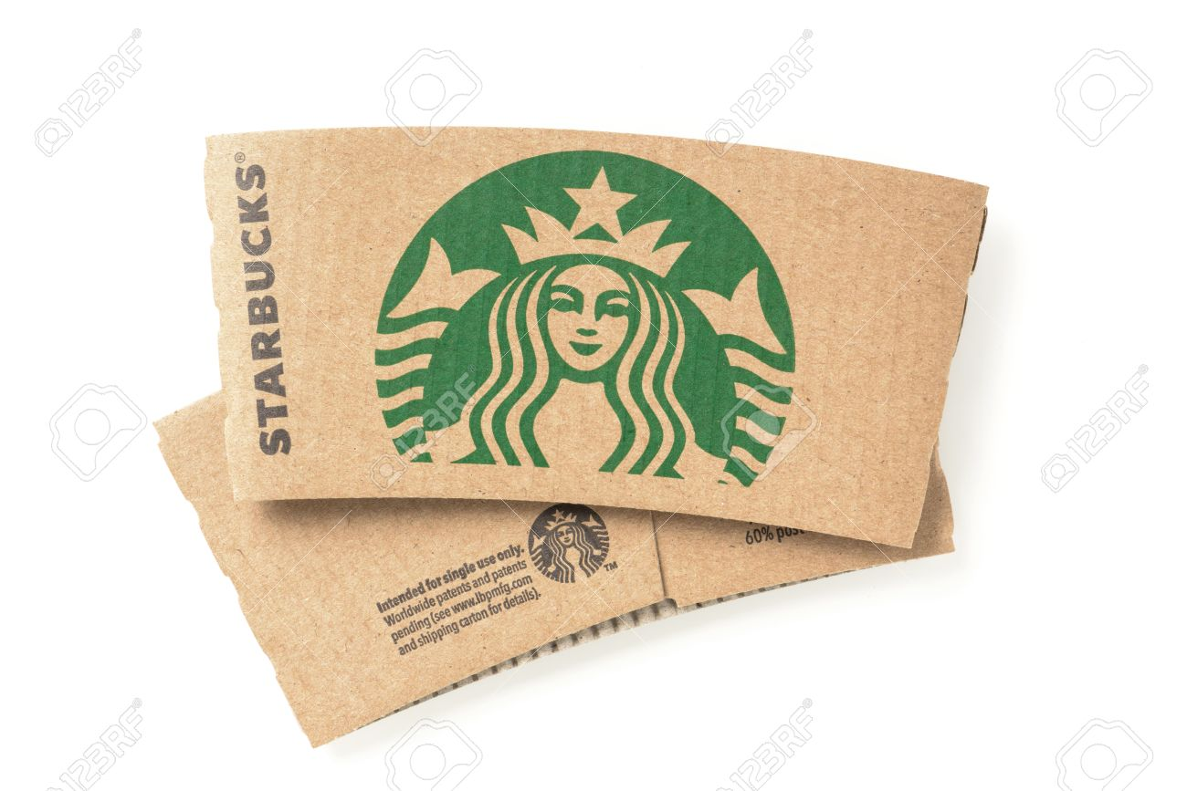 bangkok thailand february 04 2015 starbucks coffee cup sleeve