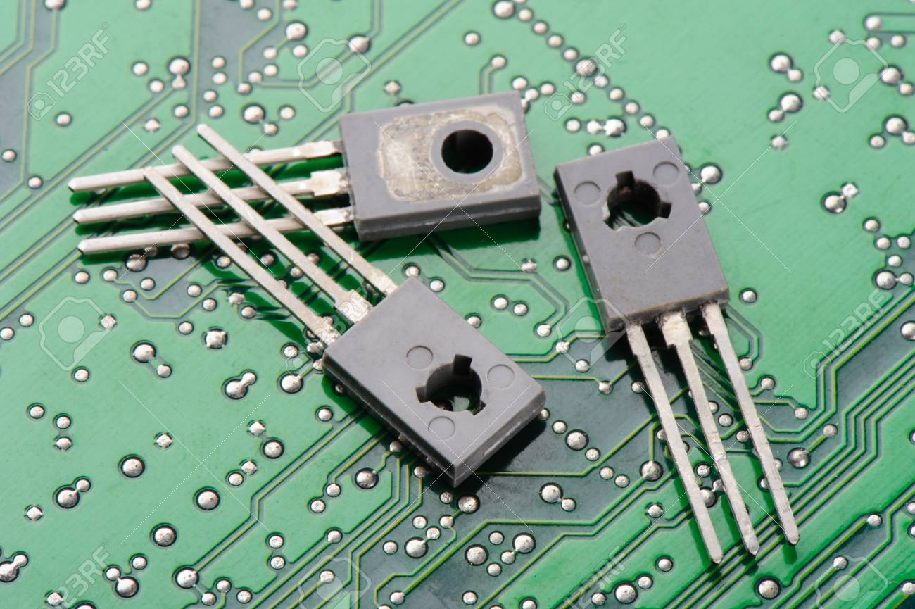 Closeup Detail Of Transistors On Circuit Board Stock Photo Picture Use Transistor In A 48790037