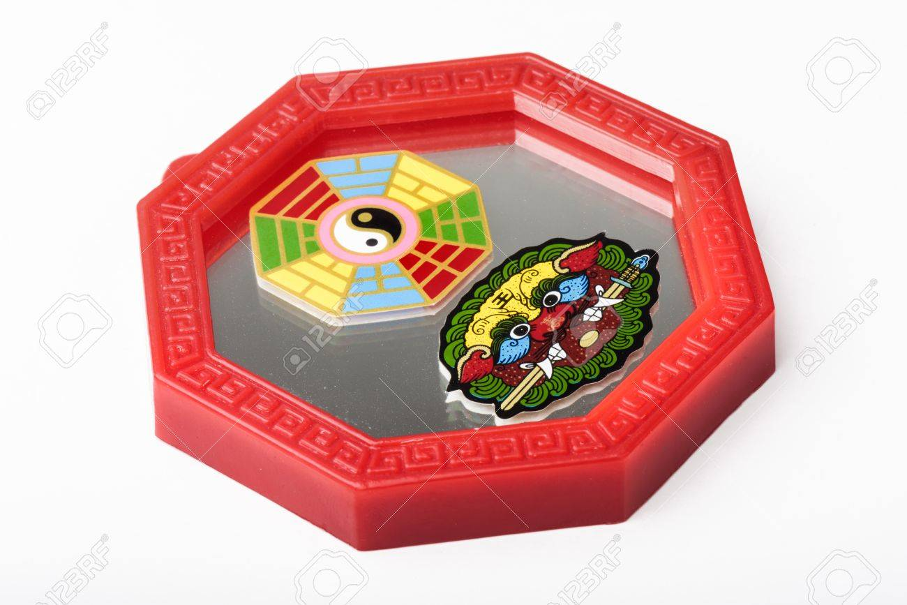 Octagon Mirror Or Feng Shui Bagua Mirror Chinese Use To Repel