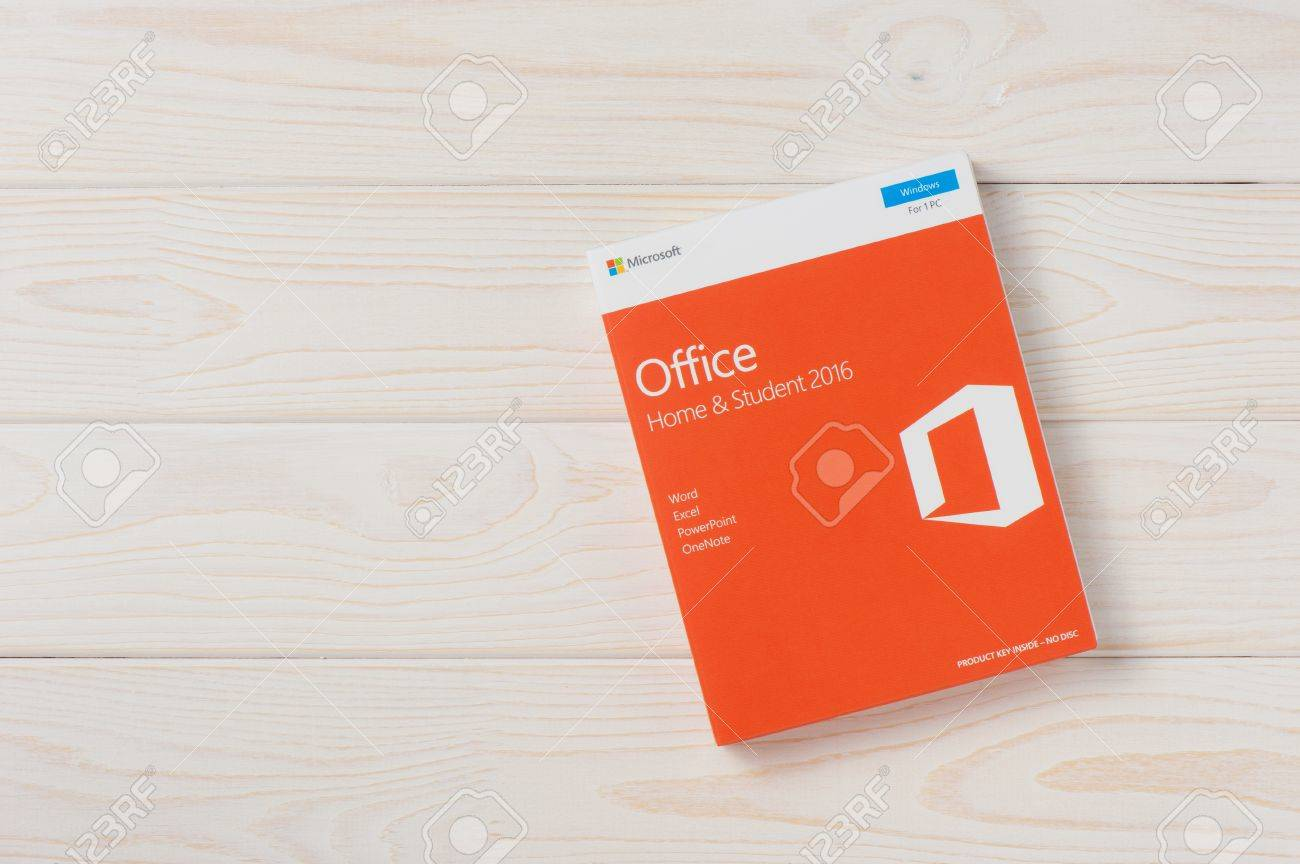 bangkok thailand december 20 2016 the retail box of microsoft office home