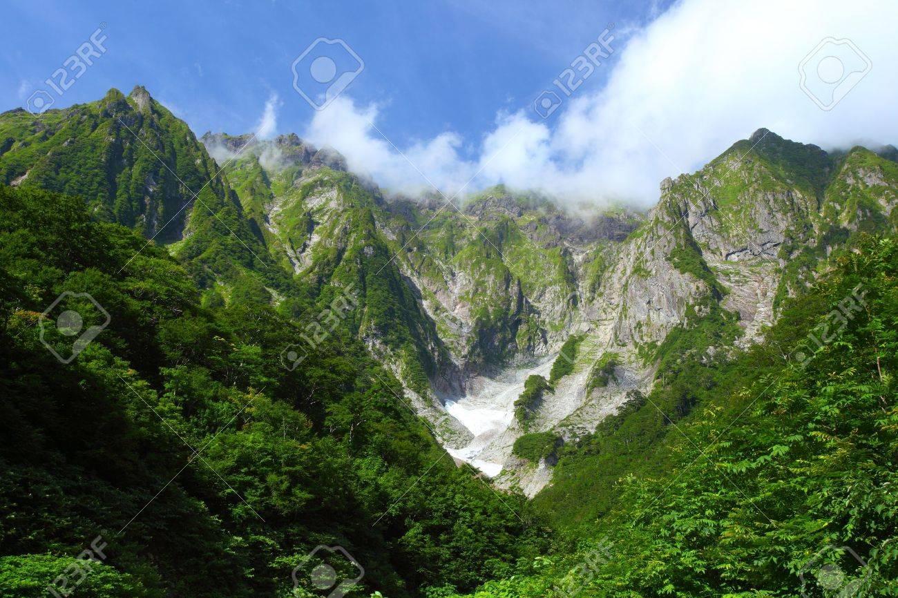 Mt  Tanigawadake and snowy valley in Gunma, Japan Stock Photo - 17233332