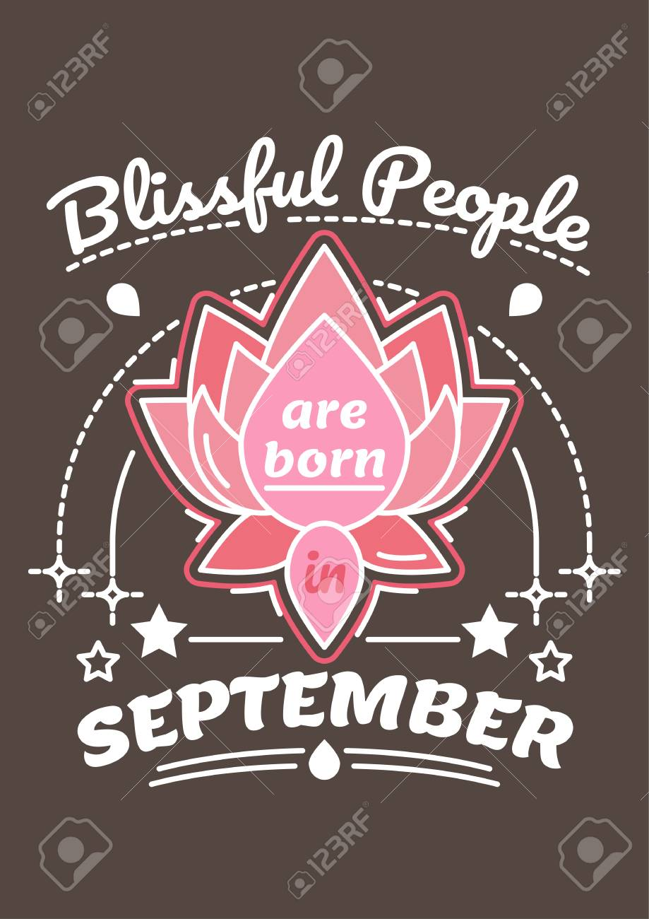Blissful People Are Born In September Birthday Greeting Present As T Shirt Card