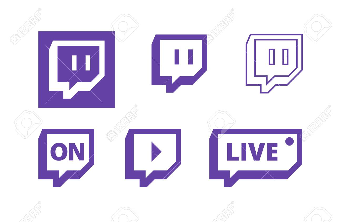 Twitch live gaming video vector logo icons. - 118163208