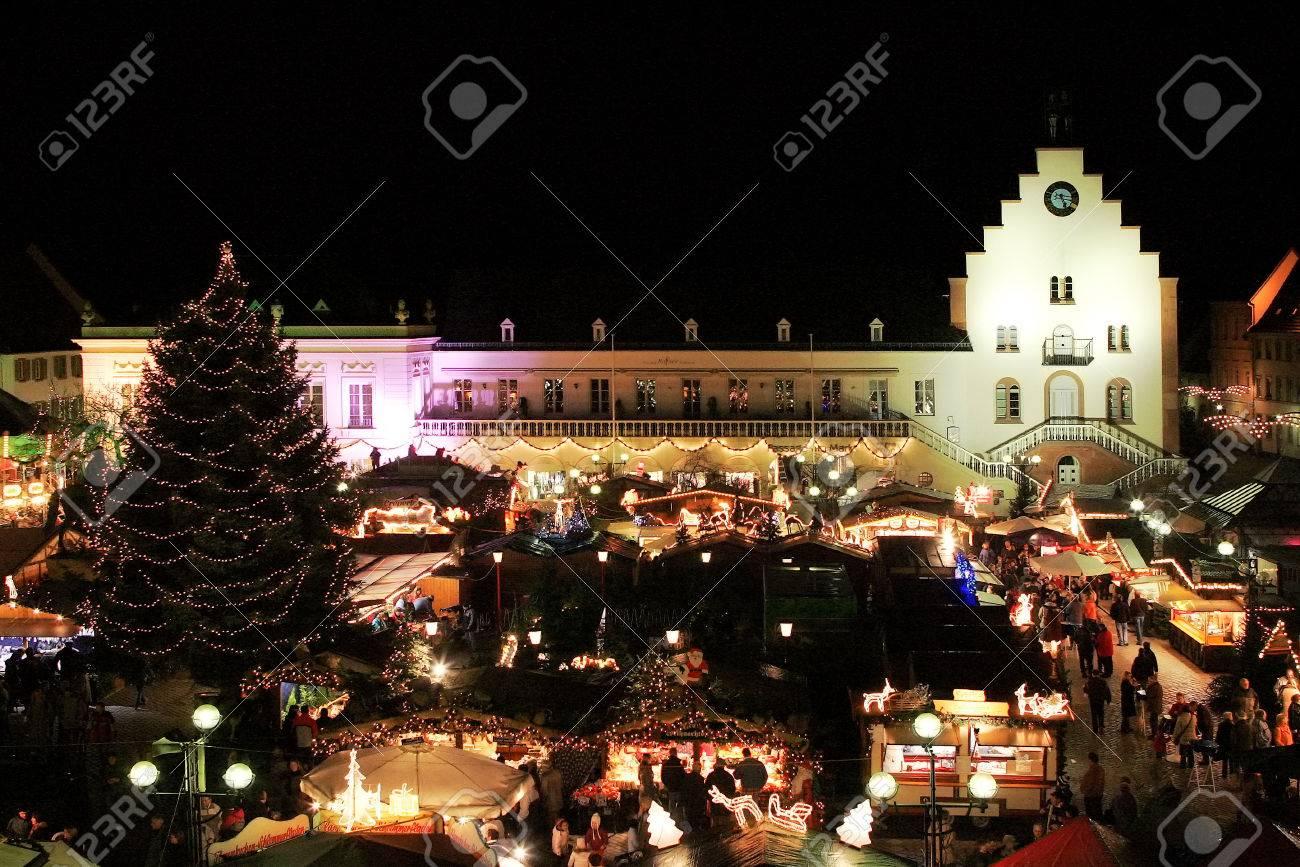 Landau Weihnachtsmarkt.Stock Photo