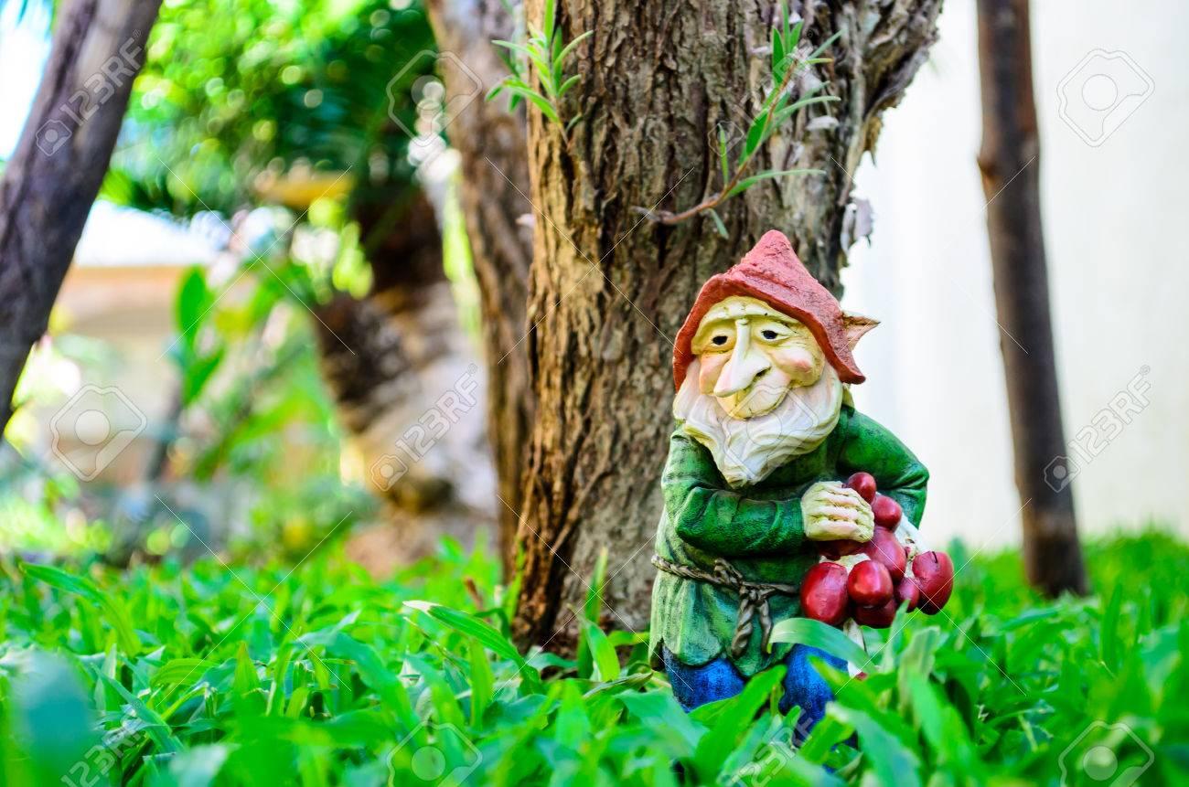 Traditional Garden Gnome For Outdoor Garden Decoration Stock Photo ...