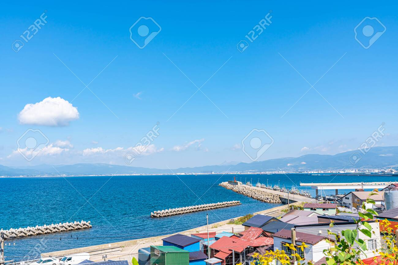 Summer in Hokkaido, Hakodate Bay from Foreign Cemetery - 136712300