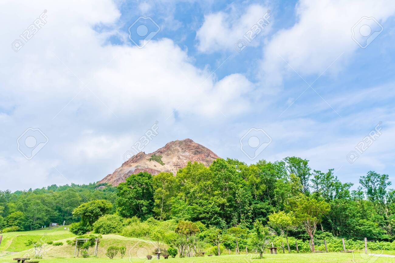 Hokkaido, Shikotsu Toya National Park, Showa Shinzan - 136597842