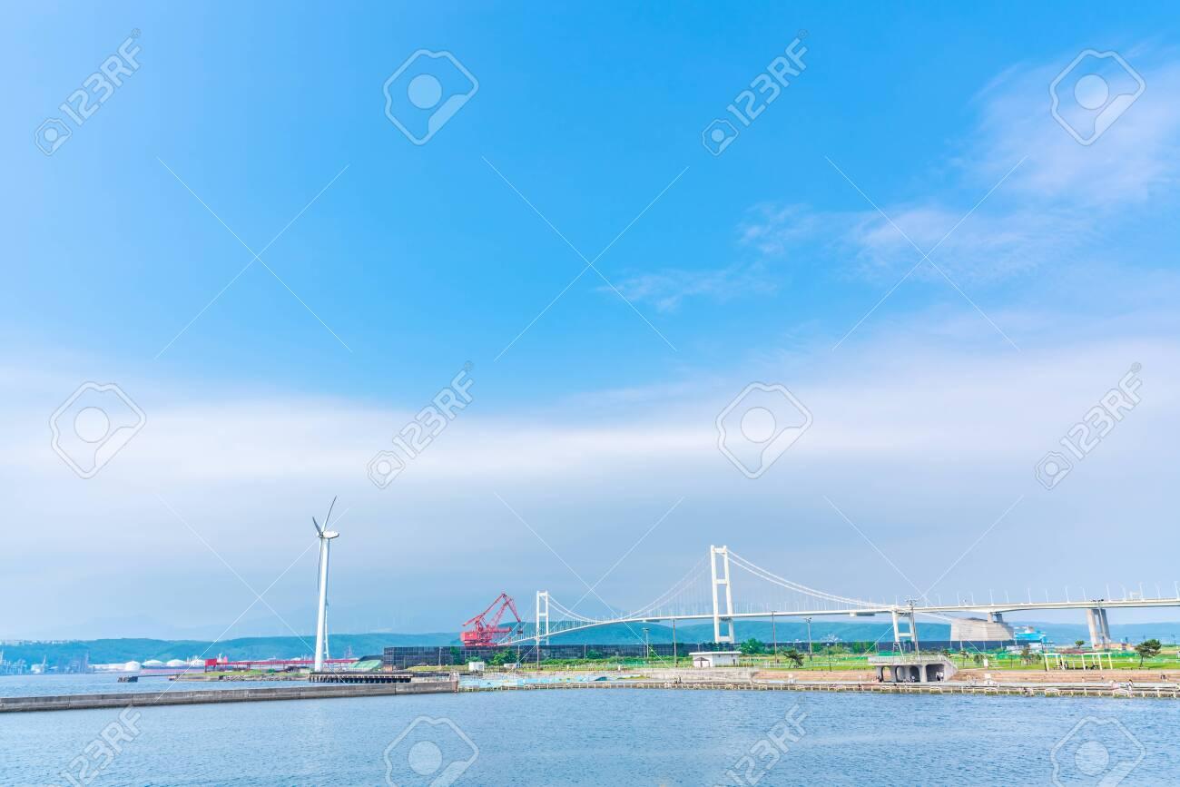 Hokkaido Muroran,View of the Syukuzu-Rinkai Park. - 136712389