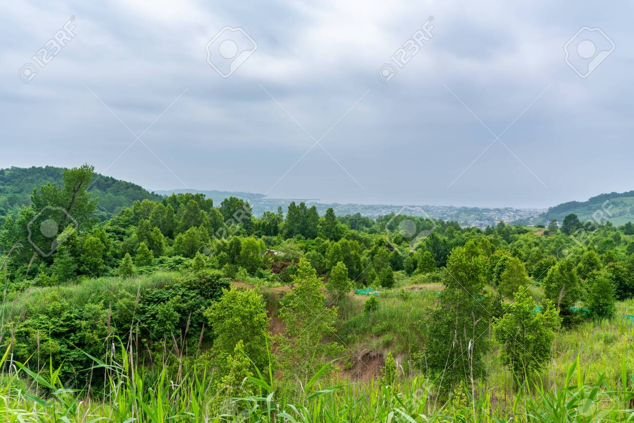 Nishiyama Crater Walking Trail in Toyako onsen - 136598853