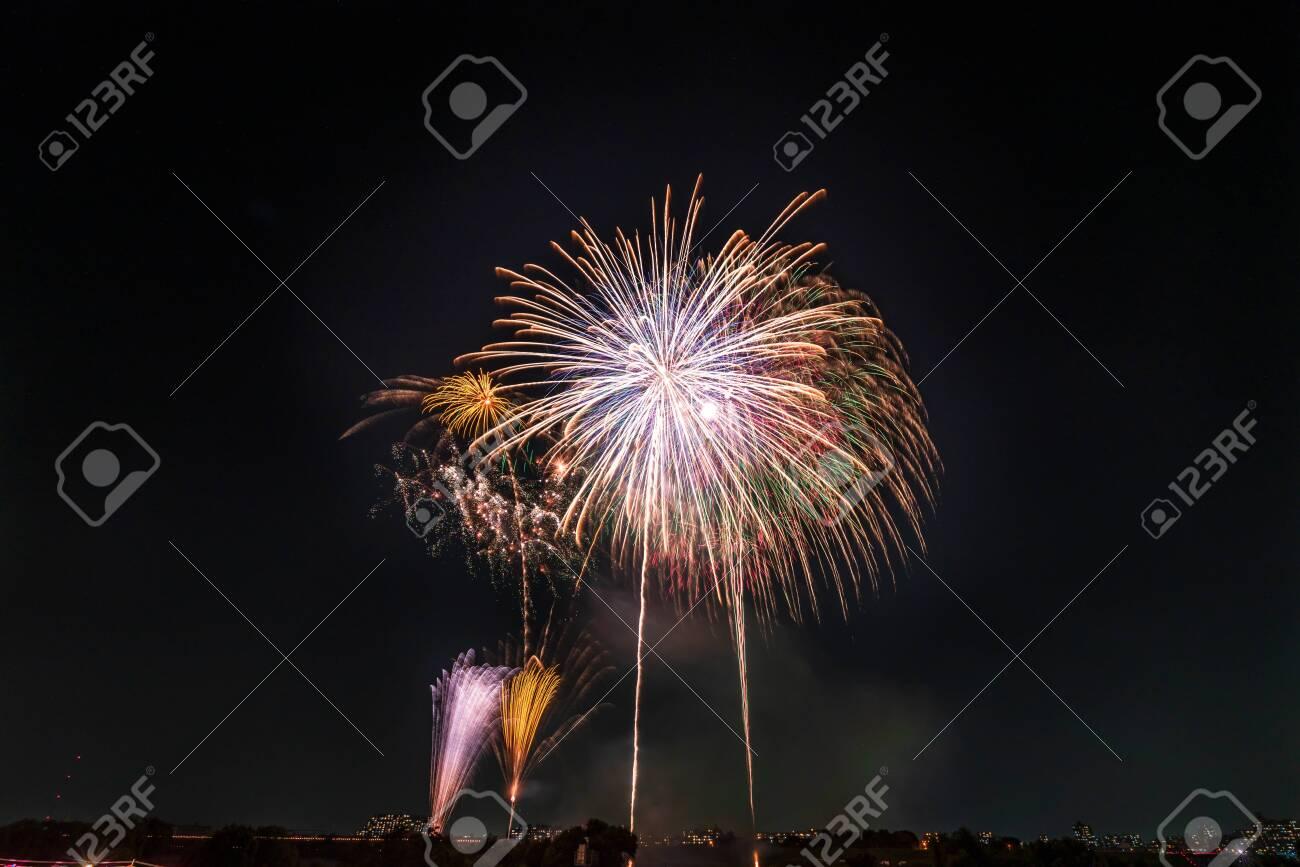 Summer in Japan, Itabashi Fireworks Festival - 136548520