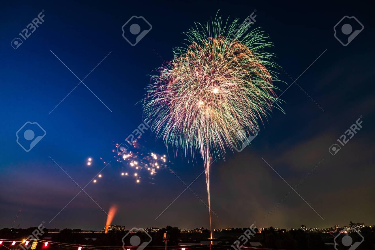 Summer in Japan, Itabashi Fireworks Festival - 136548521