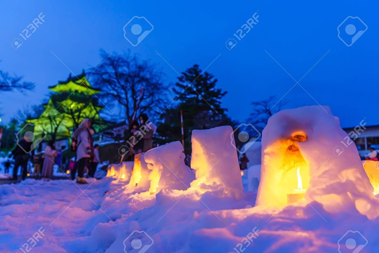 Winter akita yokote kamakura in Japan - 143867507