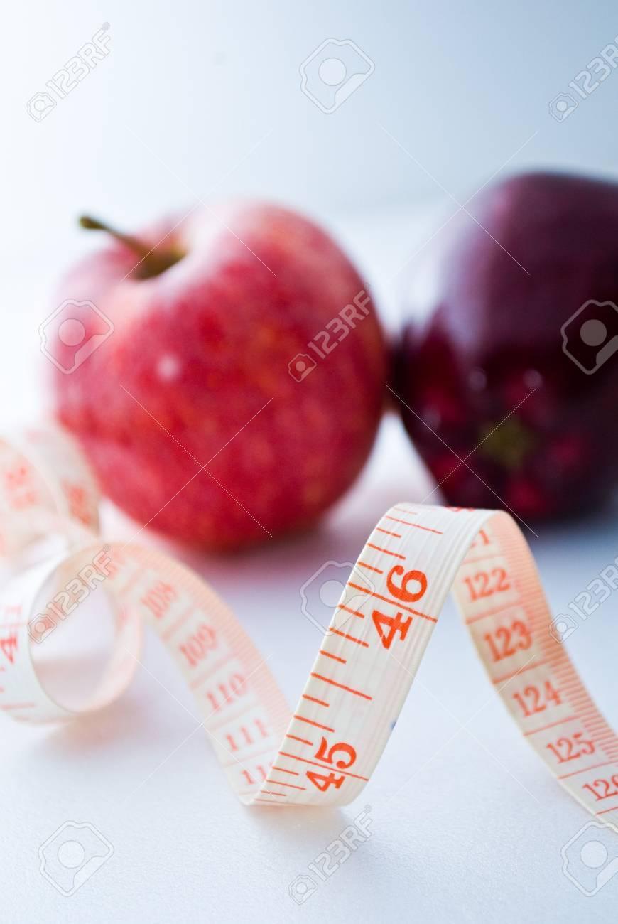 Measurement of Apples - diet Stock Photo - 5770116
