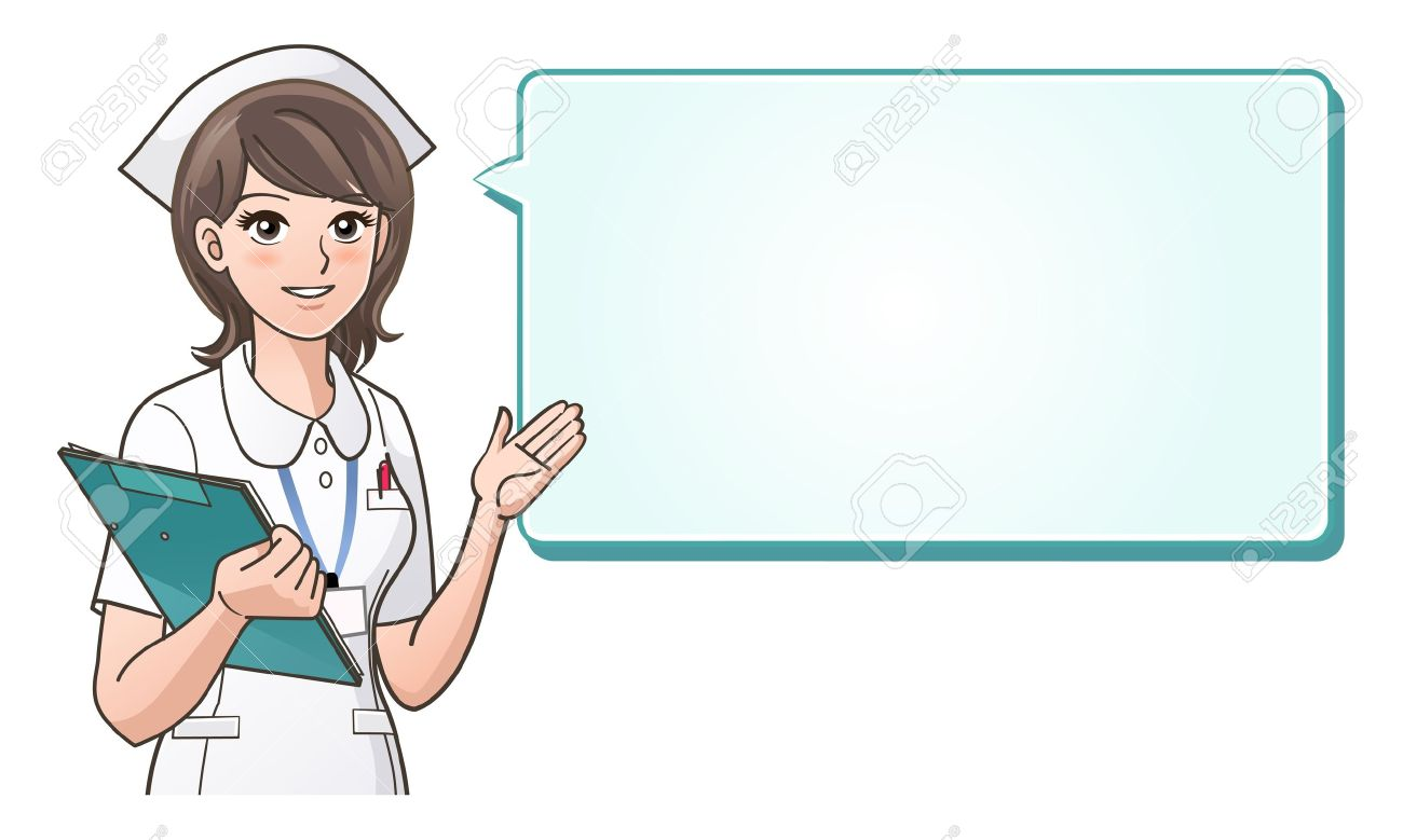 Cute Nursing Background Vector Young Cute Nurse