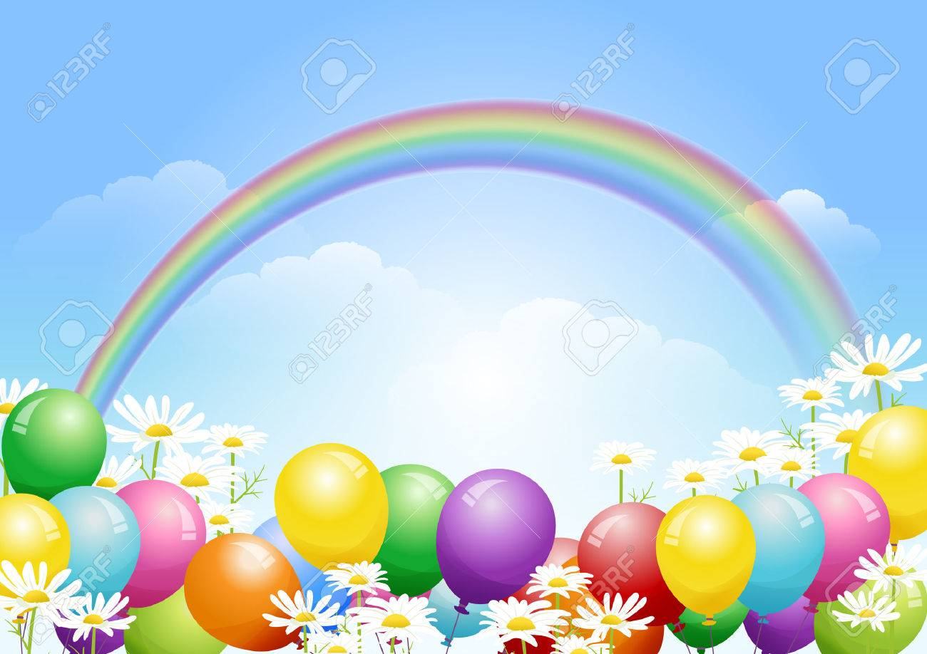 Colorful Holiday Balloons Background Vector   Free Vector Graphic ...