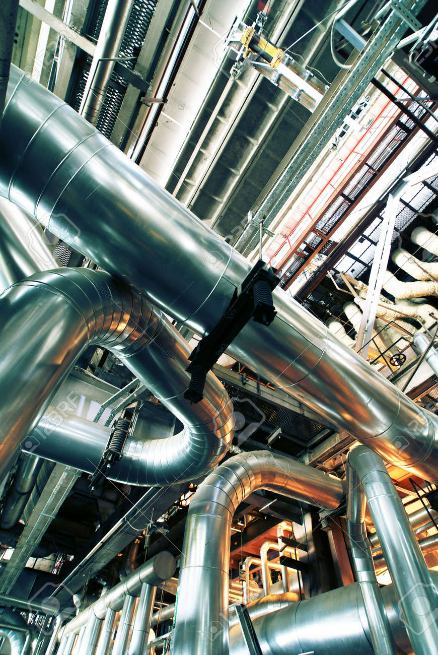 different size and shaped pipes at a power plant Stock Photo - 5373428