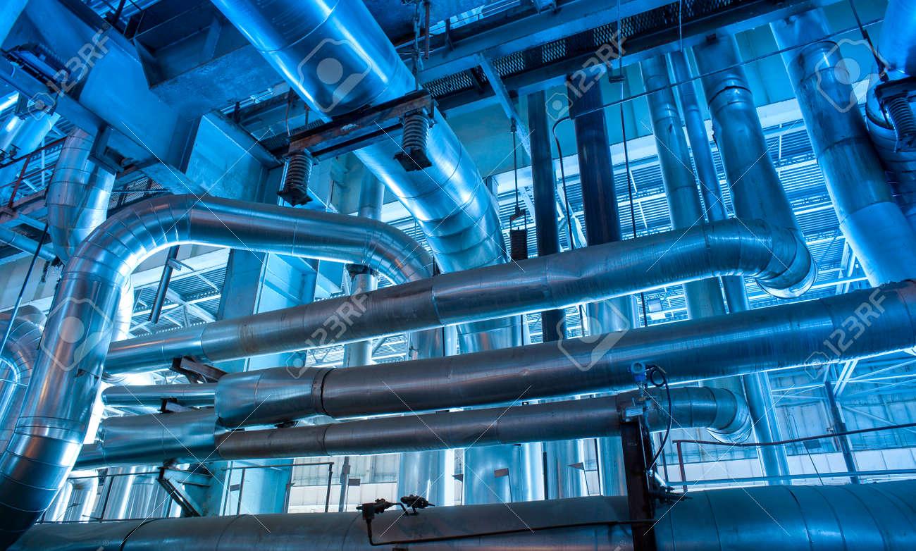 Industrial zone, Steel pipelines and equipment - 167557275