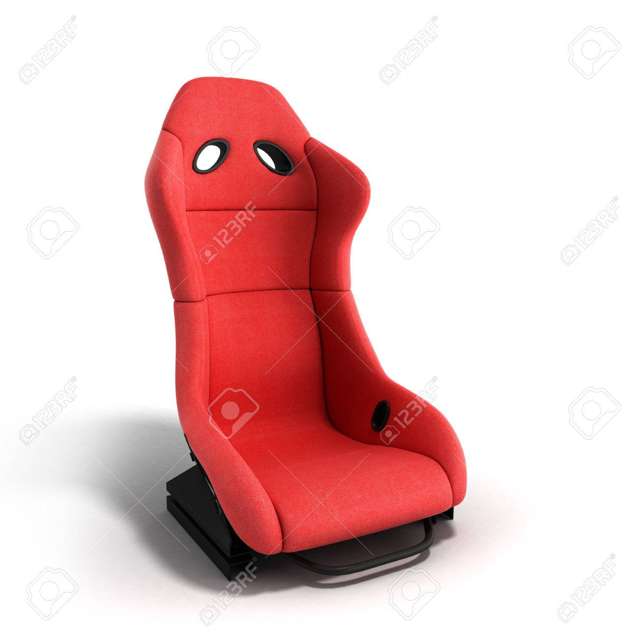 La Poltrona Rossa.La Poltrona Rossa Sportiva Dell Automobile 3d Rende Su Una Priorita Bassa Bianca