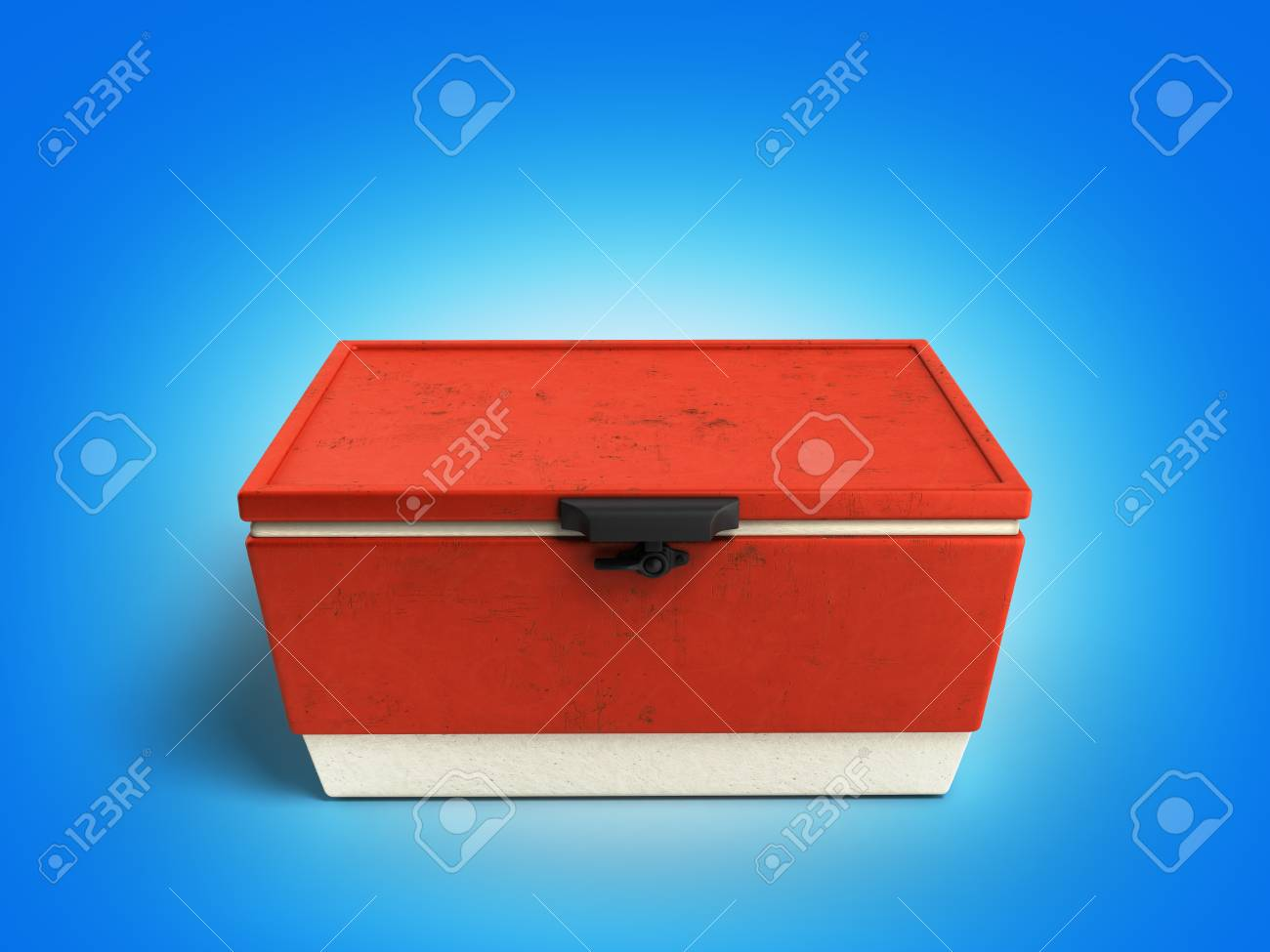 Kühlschrank Rot : Strand kühlschrank kühler rot 3d render auf farbverlauf hintergrund