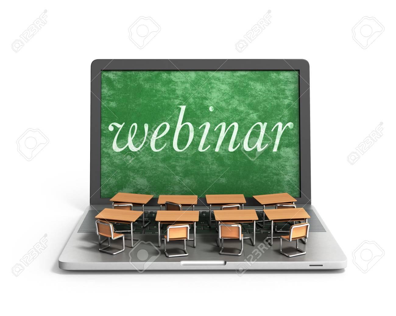E Learning Online Education Concept School Desks On Laptop Keyboard