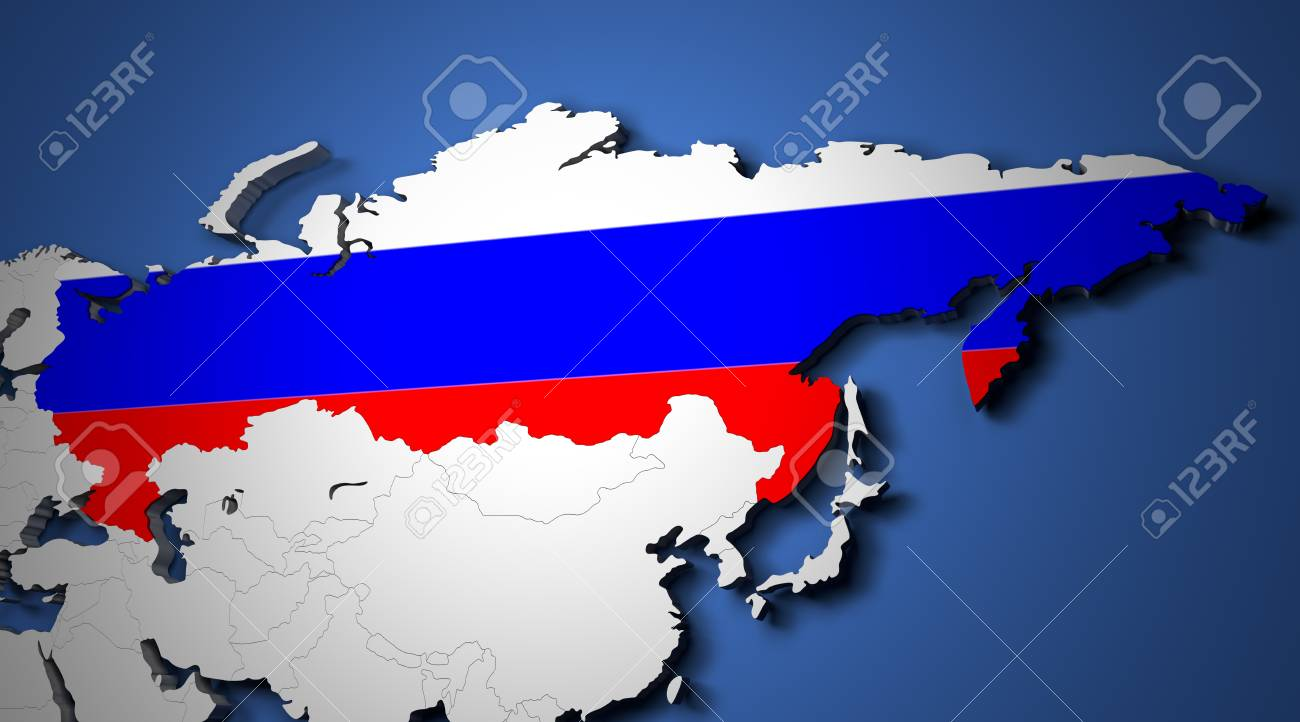 The world map with russia and their flags 3d render stock photo stock photo the world map with russia and their flags 3d render gumiabroncs Images