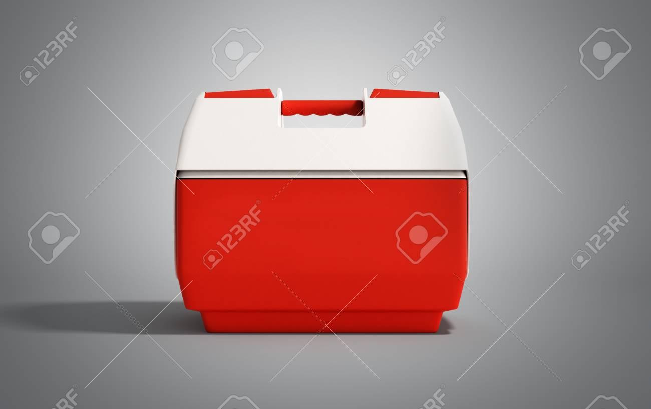 Kühlschrank In Rot : Geschlossenen kühlschrank box rot d render auf grauem hintergrund