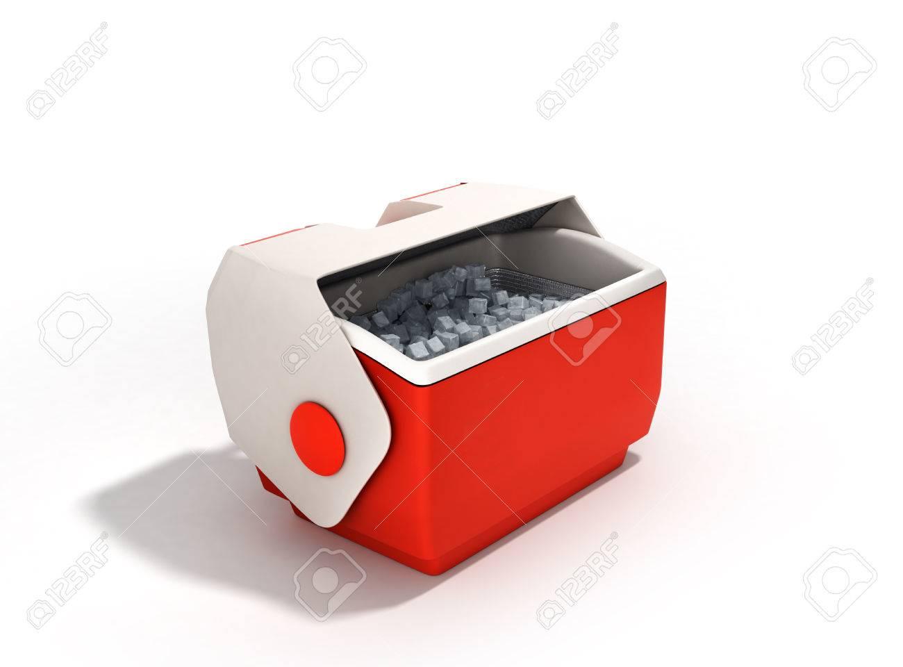 Kühlschrank Rot : Offene kühlschrank box rot 3d render auf weißem hintergrund
