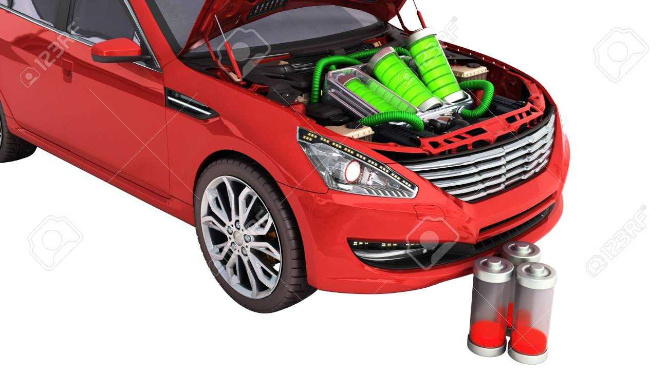 concept of battery capacity of an electric car batteries under