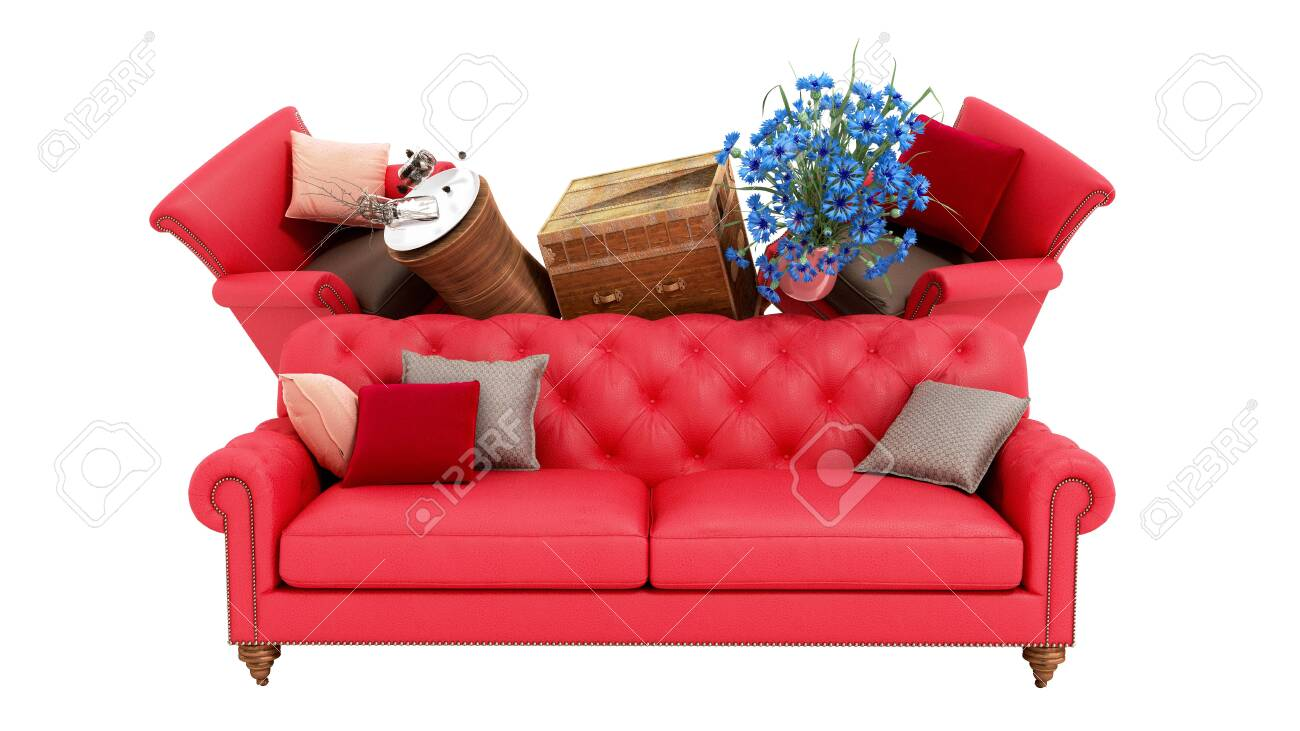 Concept Of Product Categories Furniture And Decor 3d Render On.. Stock  Photo, Picture And Royalty Free Image. Image 119754531.
