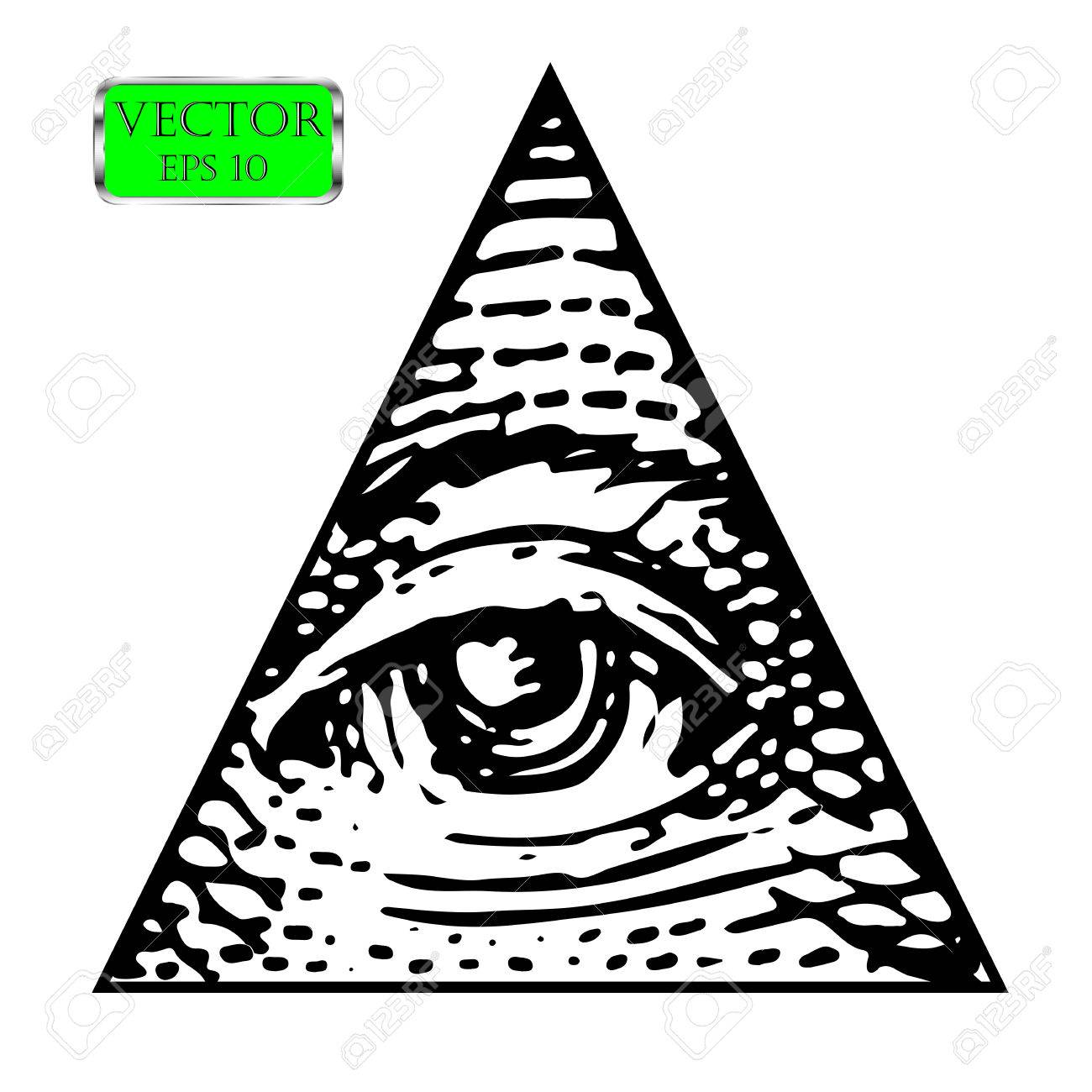 All Seeing Eye Of The New World Order Vector Illustration Stock