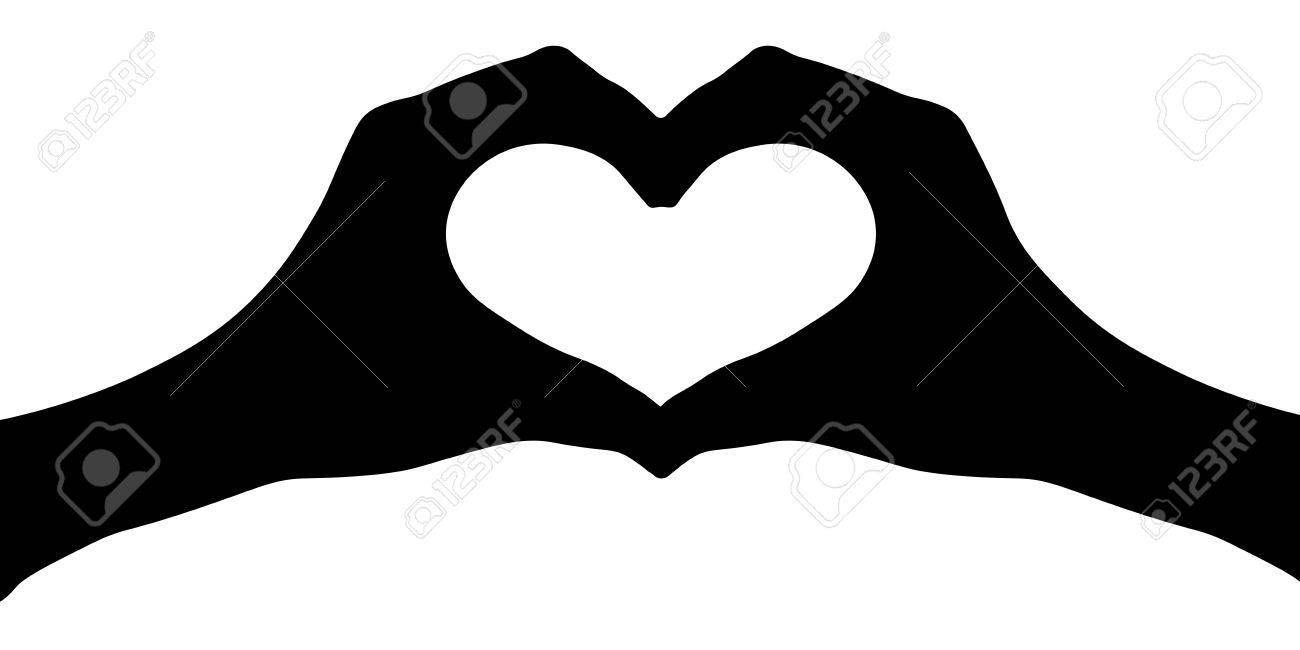Hande Herz Silhouette Vektor Lizenzfrei Nutzbare Vektorgrafiken