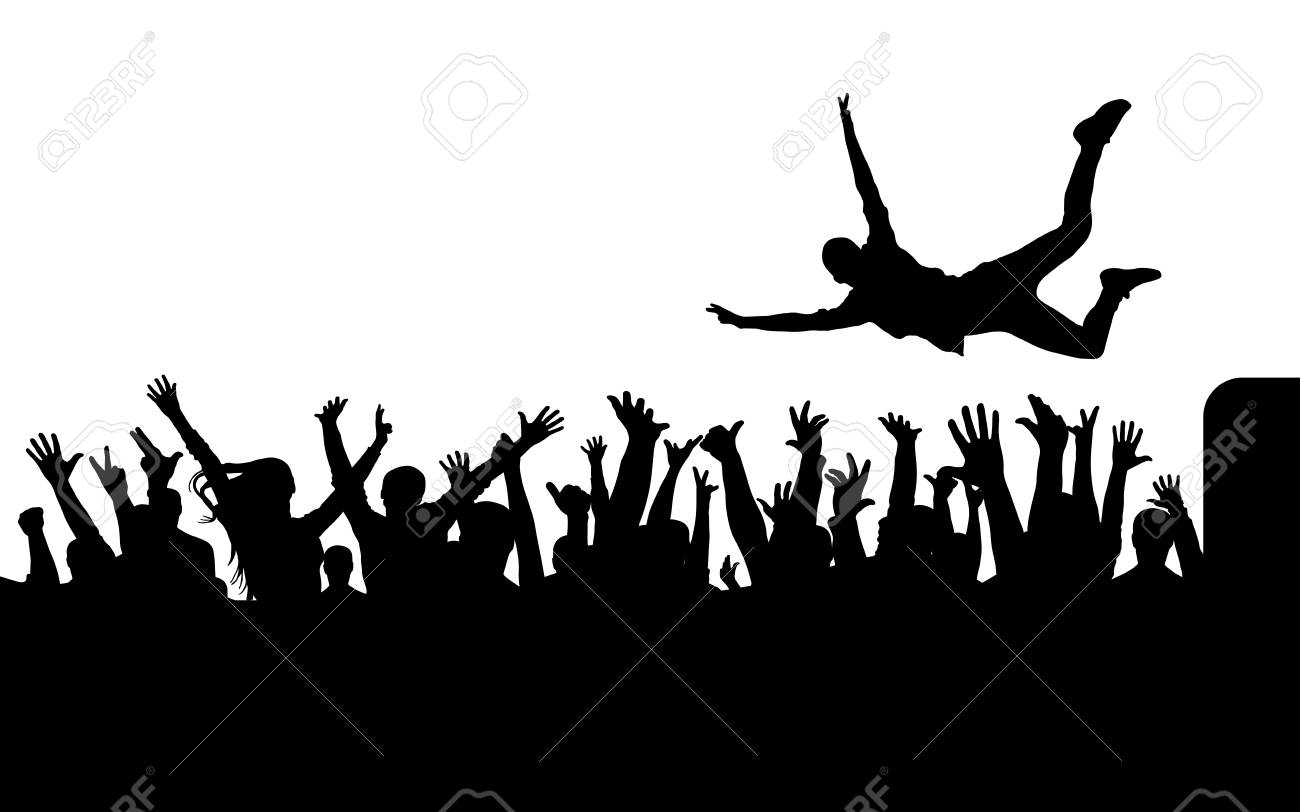 Jump From Stage To Crowd Silhouette Royalty Free Cliparts Vectors And Stock Illustration Image 89702620 On this page presented 33+ crowd silhouette photos and images free for download and editing. jump from stage to crowd silhouette royalty free cliparts vectors and stock illustration image 89702620