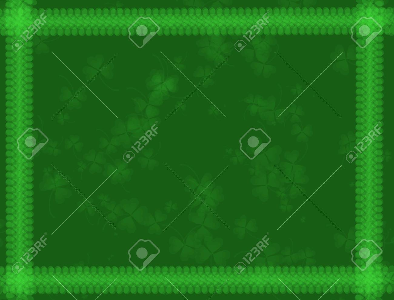 St. Patrick's Day Background -green tones, with shamrock pattern, suitable for a variety of holiday designs Stock Photo - 2639867