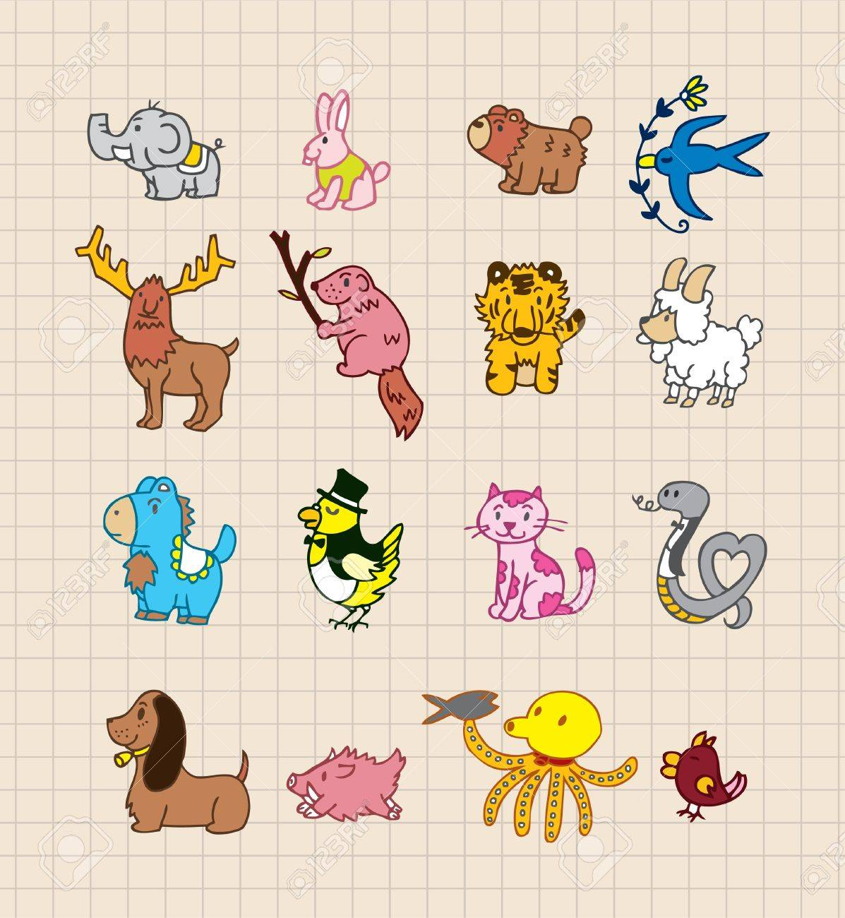 hand draw animals royalty free cliparts vectors and stock