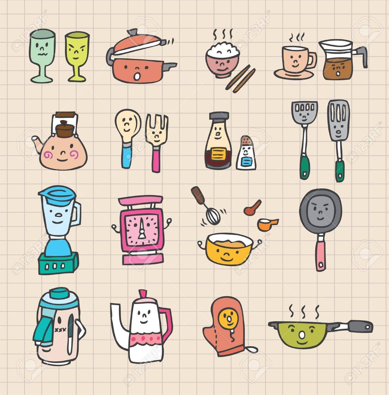 Cute Kitchen Element Stock Vector