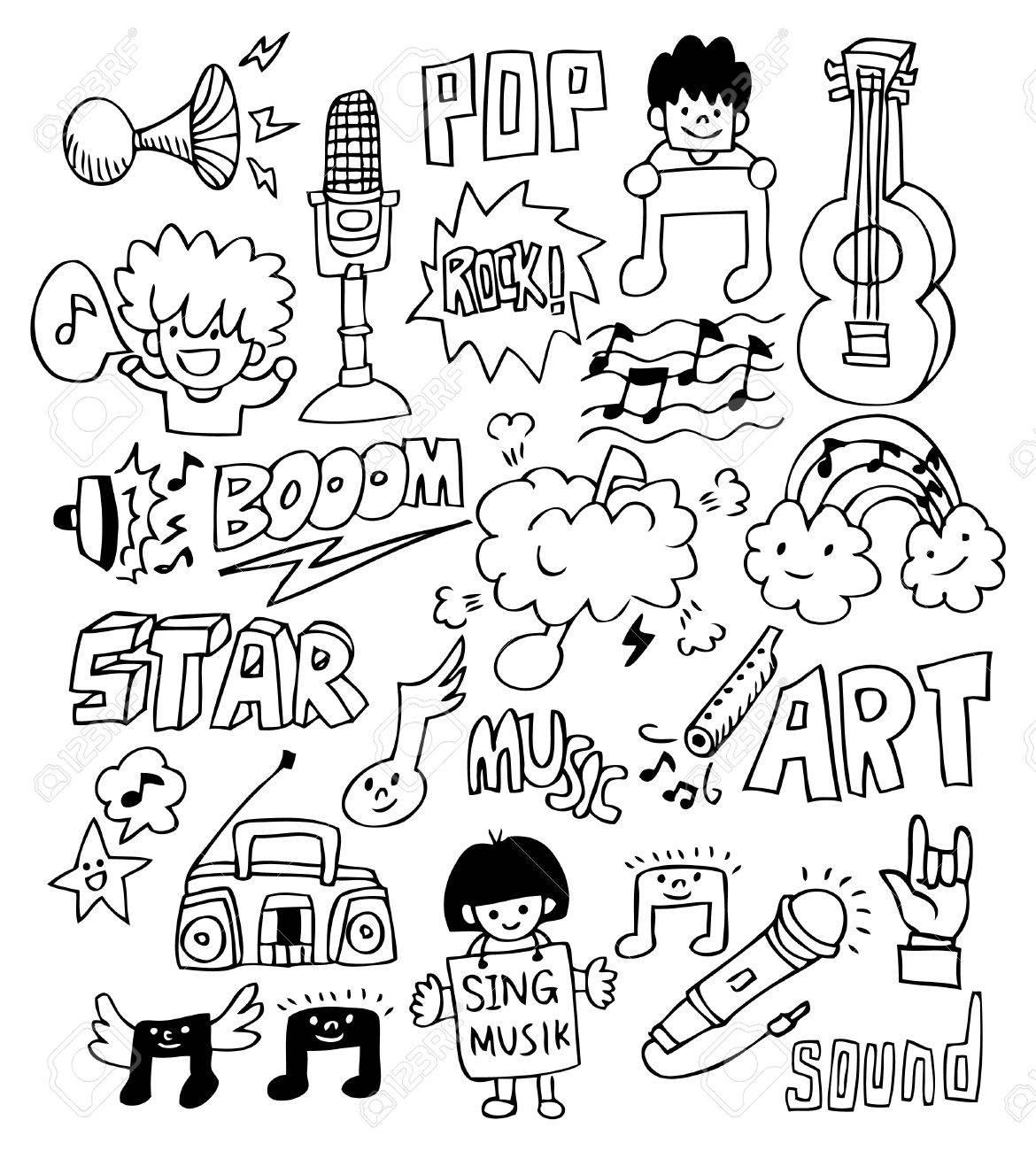 hand draw music element Stock Vector - 8492102
