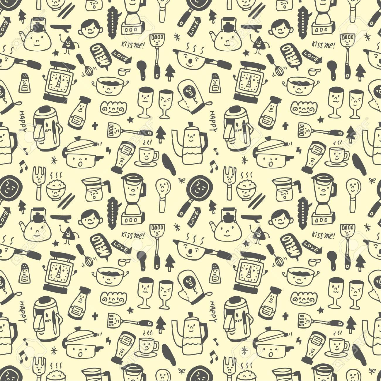 seamless pattern funny cartoon Stock Vector - 8492112