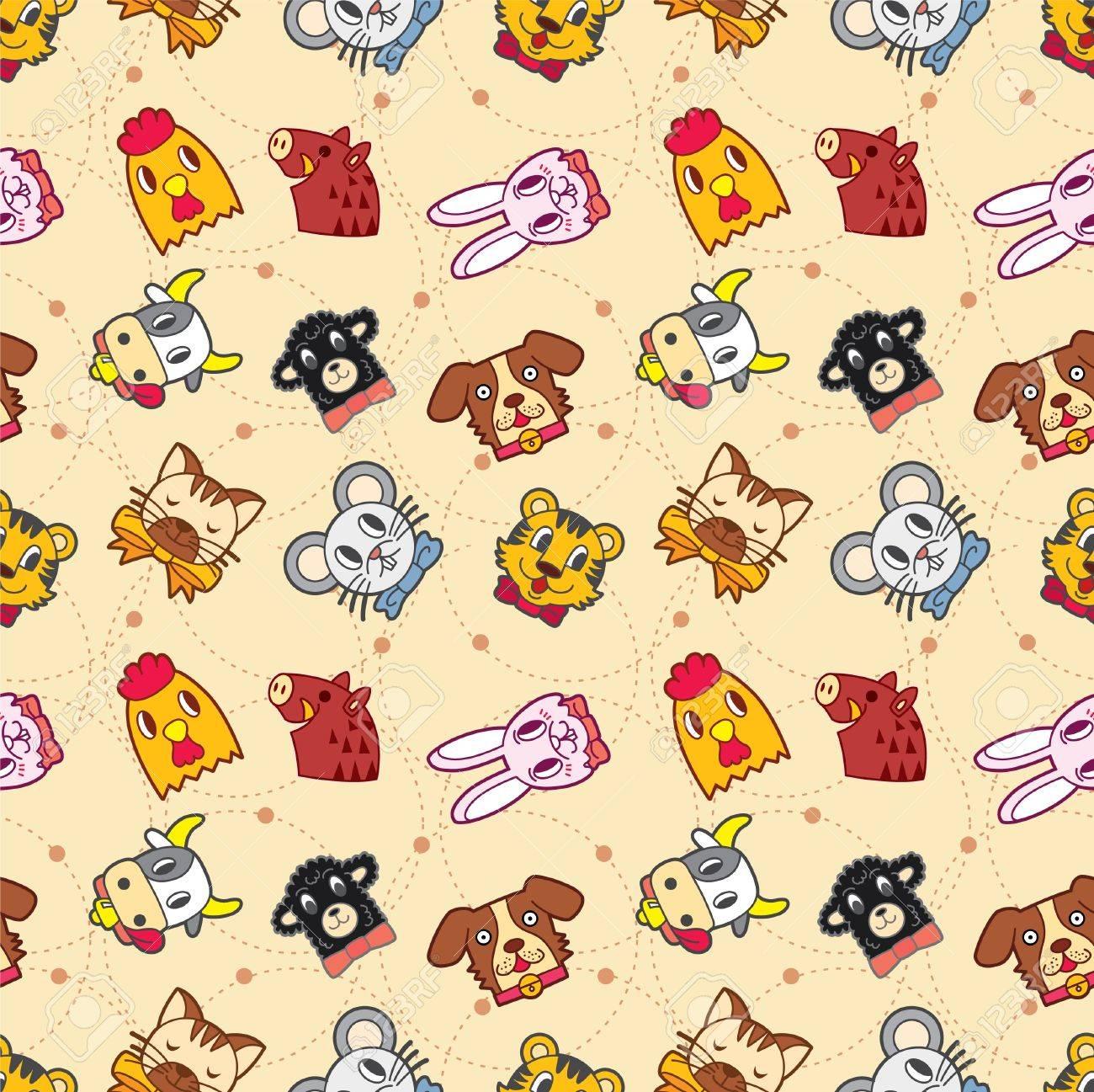 seamless animal pattern Stock Vector - 8486749