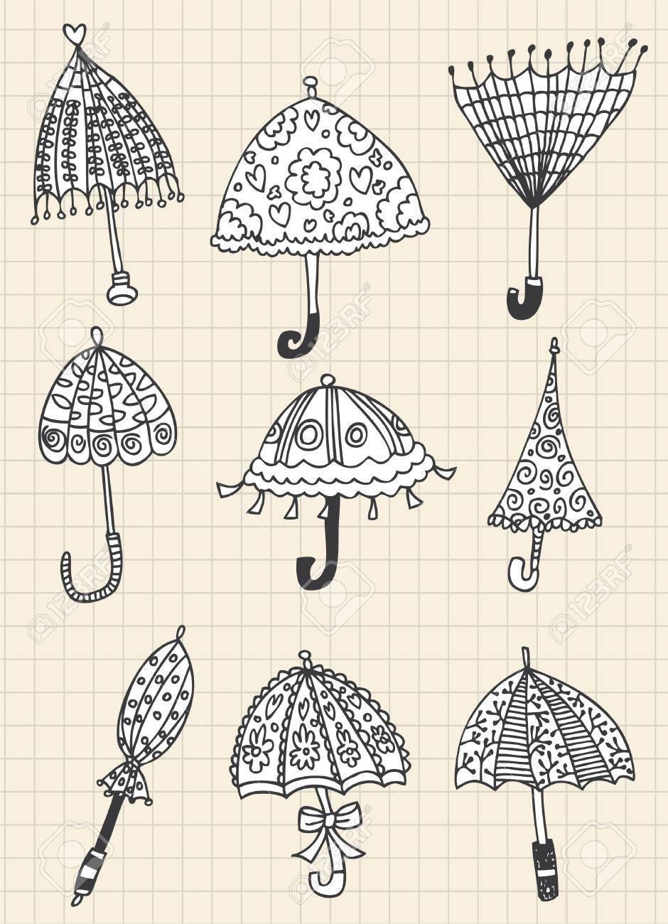 umbrella doodle Stock Vector - 8480503