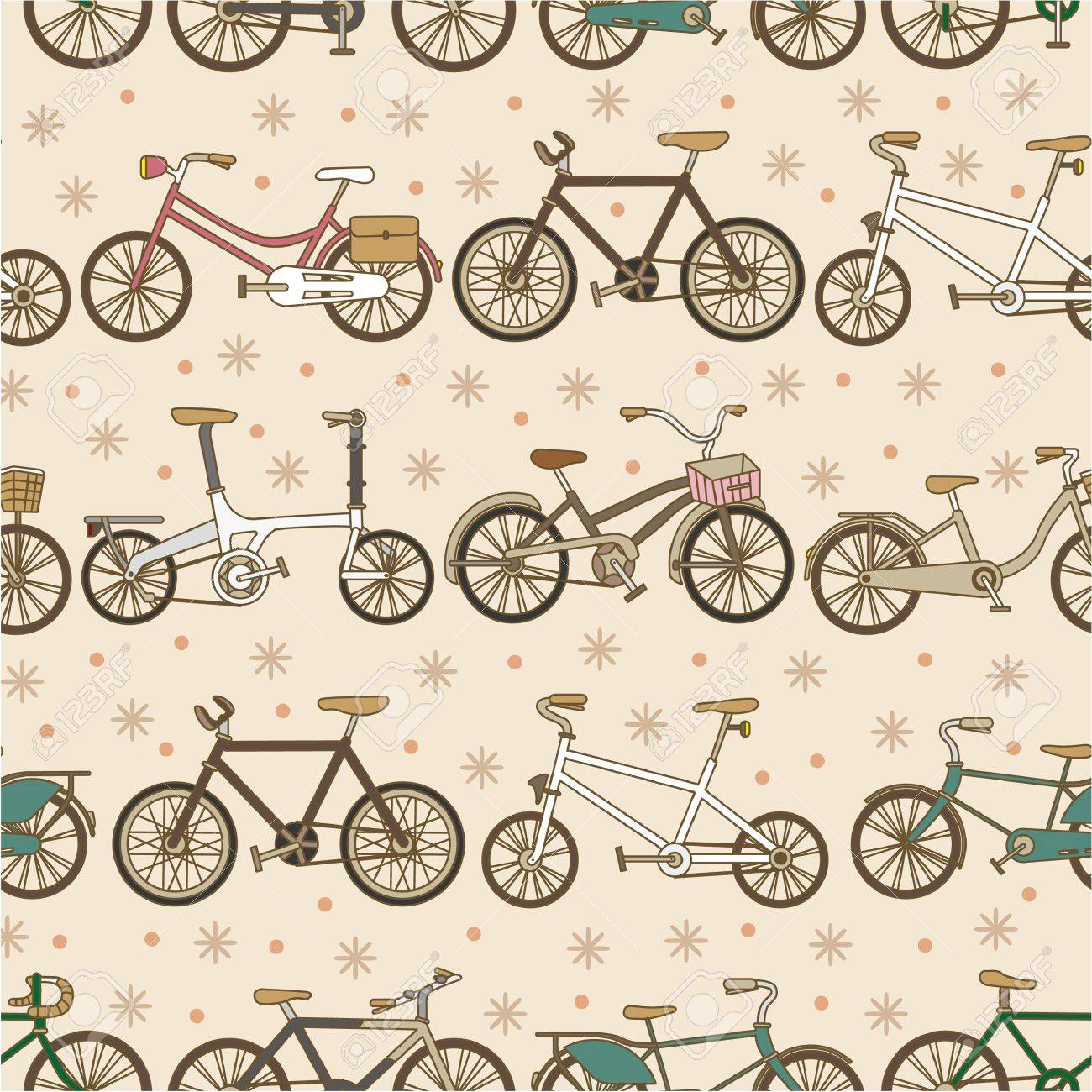 seamless bicycle pattern Stock Vector - 8480406