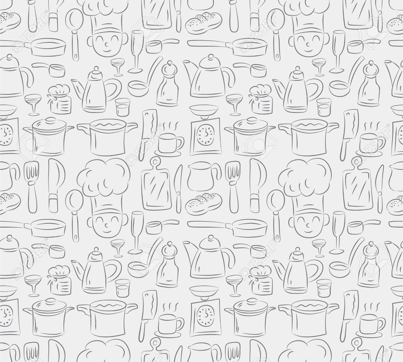 Seamless Cooking Pattern Royalty Free Cliparts Vectors And Stock